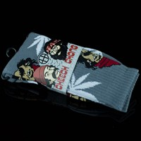HUF Cheech and Chong 420 Socks, Color: Gray in stock.