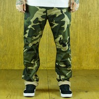 $40.00 Kennedy Denim Co The Surplus Chinos, Color: Forest, Camo