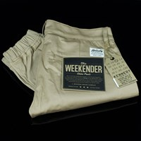 Kennedy Denim Co. The Weekend Essentials, Color: Khaki in stock.