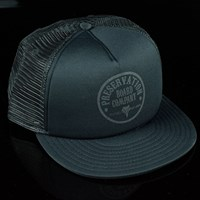Preservation Board Company Circle Logo Trucker Hat, Color: Black in stock.