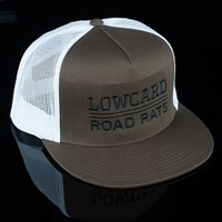 Lowcard Magazine Road Rats Canvas Mesh Trucker Hat, Color: Brown, White in stock.