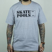 Lowcard Magazine Skate Pools T Shirt, Color: Heather Grey in stock.