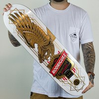 Primitive Paul Rodriguez Gold Eagle Deck, Color: White in stock.