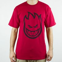 Spitfire Wheels Bighead T Shirt, Color: Cardinal, Black in stock.