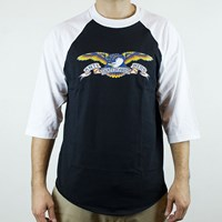 Anti Hero Eagle 3/4 Sleeve T Shirt, Color: Black, White in stock.