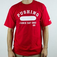 Real Pushing T Shirt, Color: Red, White in stock.