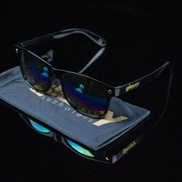 $15.00 Glassy Sunhaters Leonard Sunglasses, Color: Black, Colored Mirror