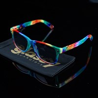 $15.00 Glassy Sunhaters Leonard Sunglasses, Color: Tye-Dye