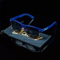Glassy Sunhaters Shredder Sunglasses, Color: Navy, Orange in stock.