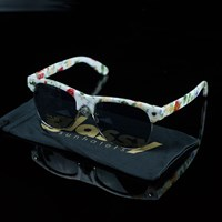 $20.00 Glassy Sunhaters Shredder Sunglasses, Color: White, Floral