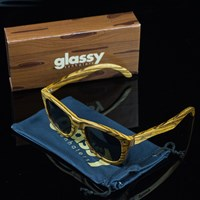 Glassy Sunhaters Marc Johnson Sunglasses, Color: Wood in stock.