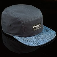 $32.00 Magenta Lines 5 Panel Hat, Color: Navy