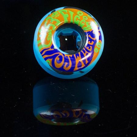 OJ III Wheels Figgy Psychedelic Freakouts Wheels, Color: Blue, Black Swirl