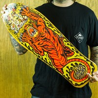 $70.00 Santa Cruz Salba Tiger Reissue Deck, Color: Yellow