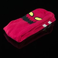 $8.00 Toy Machine Monster Face Socks, Color: Red
