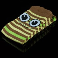 $8.00 Toy Machine Turtle Stripe Socks, Color: Brown