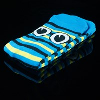 $8.00 Toy Machine Turtle Stripe Socks, Color: Blue, Yellow