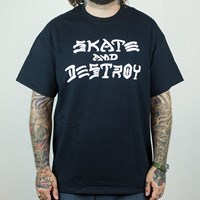 $20.00 Thrasher Skate and Destroy T Shirt, Color: Black