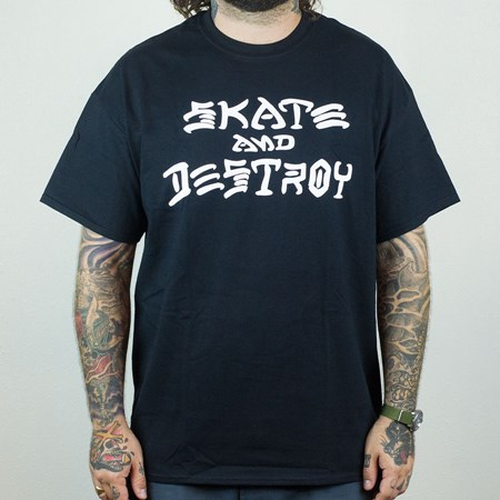 Thrasher Skate and Destroy T Shirt Black