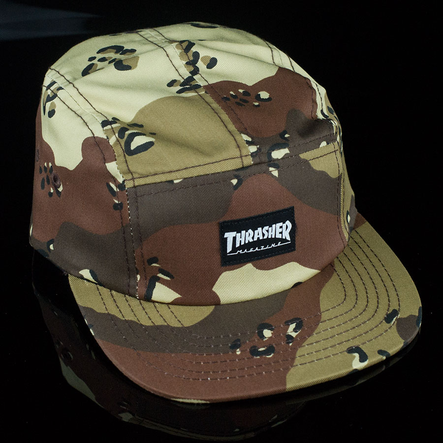 Thrasher 5 Panel Hat Desert Camo In Stock at The Boardr d24be9a251e