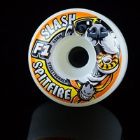 $32.00 Spitfire Wheels F1 Street Burners Slash It's The Pits Wheels, Color: White