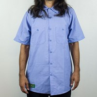 Anti Hero Brotherhood Button Up Shirt, Color: Blue in stock.