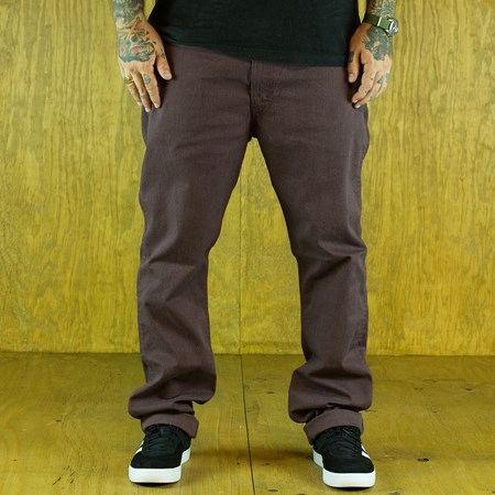 Size 32 X 32 in Levi's 513 Line 8 Pants, Color: Rum Melange