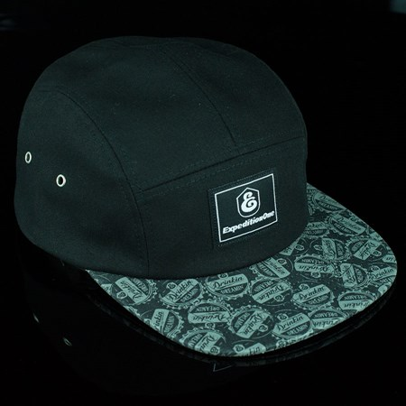 Expedition Down Under 5 Panel Hat Black