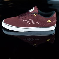 $60.00 Emerica The Reynolds Low Vulc Shoes, Color: Burgundy, White