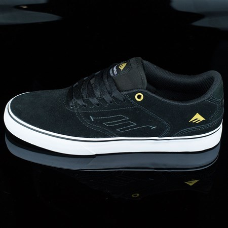 Emerica The Reynolds Low Vulc Shoes, Color: Black, White