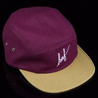 HUF Script Volley Hat, Color: Burgundy in stock.