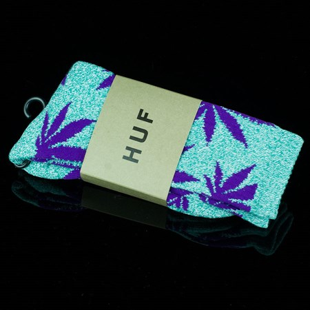 HUF Plant Life Socks, Color: Jade Heather, Purple