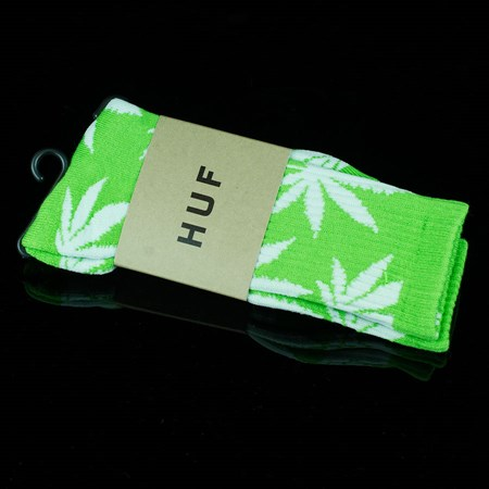 HUF Plant Life Socks, Color: Lime, White
