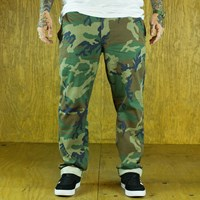 $65.00 HUF Fulton Chino Pants, Color: Woodland Camo
