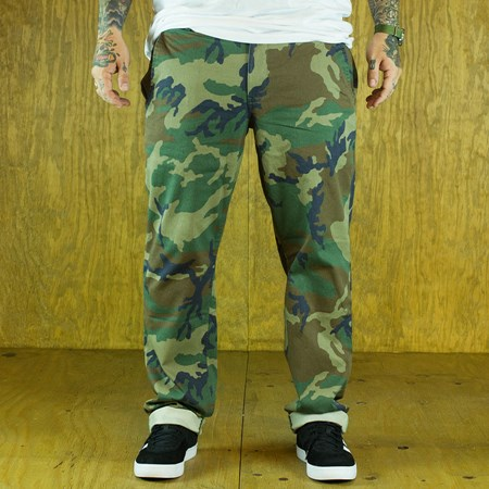 HUF Fulton Chino Pants, Color: Woodland Camo