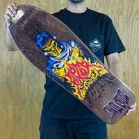 Santa Cruz Tom Knox Fire Pit Reissue Deck, Color: Brown in stock.