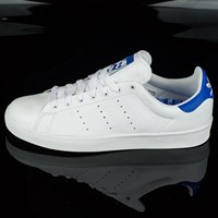 adidas Stan Smith Vulc Shoes, Color: White, Bluebird in stock.