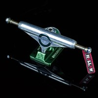 Independent Stage 11 Haslam Forged Hollow Trucks, Color: Silver, Green in stock.