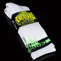 Creature Coxsockie Crew Socks, Color: White in stock.