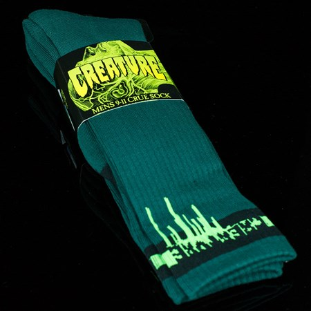 Creature Coxsockie Crew Socks, Color: Forest