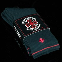 Independent Solo Crew Socks, Color: Black in stock.