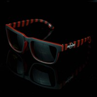 $12.00 Independent Pattern Square Sunglasses, Color: Black, Red