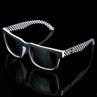 Independent Pattern Square Sunglasses, Color: Black, White in stock.