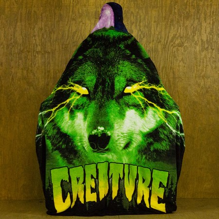 Creature Spirit Shroud Fleece Blanket, Color: Black