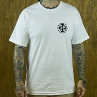 $20.00 Independent T. Nozaka Tattoo Cross T Shirt, Color: White