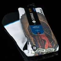 Stance Jason Jesse Socks, Color: White in stock.
