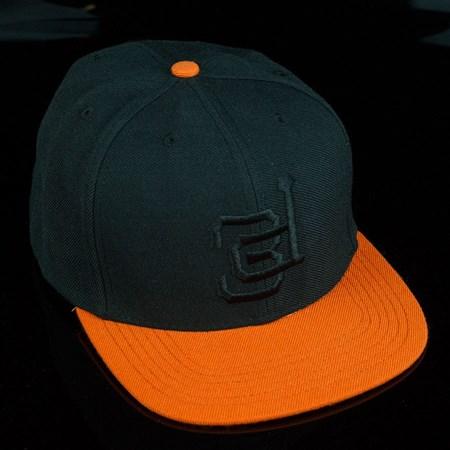3D Lockup Snap Back Hat Black, Orange