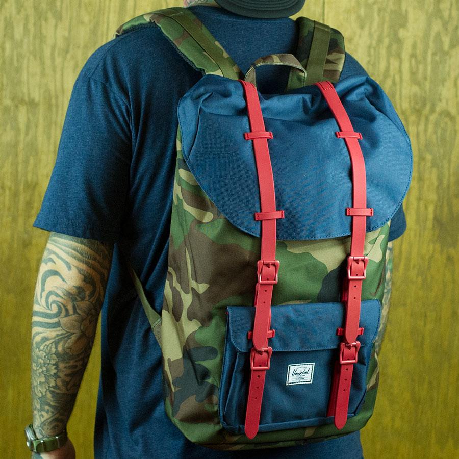 4ad6b50e8d Herschel Little America Backpack Woodland Camo