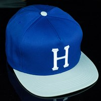 $40.00 HUF Classic H Snap Back Hat, Color: Blue, Grey