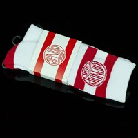 $12.00 RIPNDIP Red Stripe Gym Socks, Color: Red, White